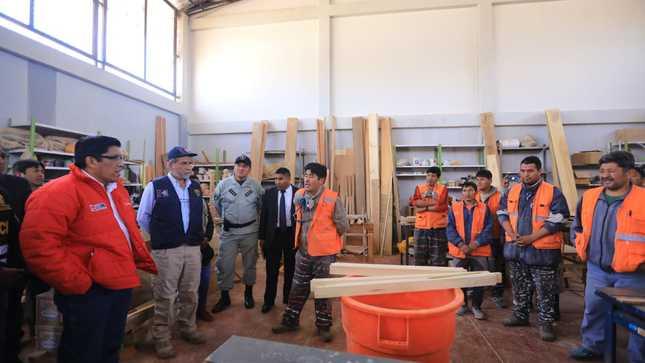 Ministro de Justicia supervisó tres establecimientos penitenciarios en la región Puno