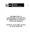 Preview informe para latransferencia de gestion del minjusdh set2018