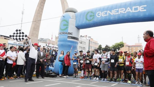 """Ministro Valencia: ultra maratón """"Carrera Sin Fronteras"""" es una muestra de integración entre el Perú y Chile"""