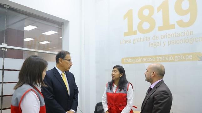 Ministerio de Trabajo lanza línea gratuita 1819 contra el acoso sexual laboral