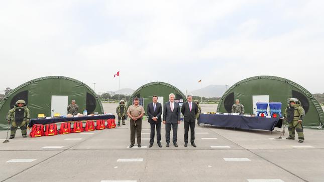 Donación alemana permitirá reforzar labores de desminado que realiza el Ejército en la frontera con Ecuador