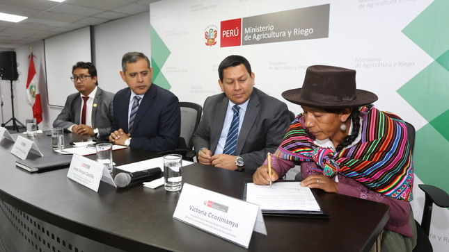 MINAGRI cofinanciará Planes de Negocio por más de  S/ 2 millones en beneficio de organizaciones agrarias de Apurímac