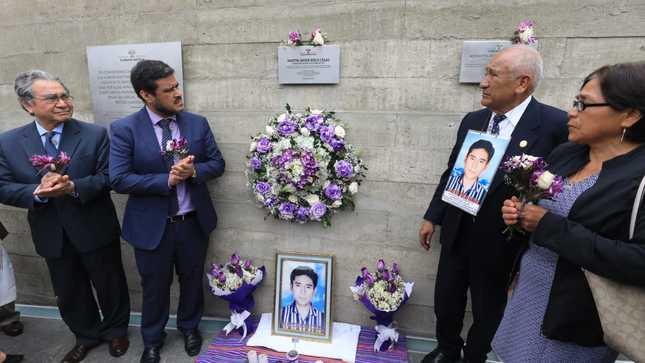 CMAN realiza acto público de reconocimiento  a Martín Roca, víctima de desaparición forzada