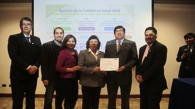 Viceministro Diego Venegas reconoció a establecimientos de salud ganadores de Proyectos sobre Calidad Continua