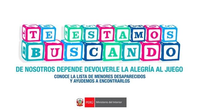#TeEstamosBuscando: Mininter difunde 10 nuevas notas de alerta de menores desaparecidos