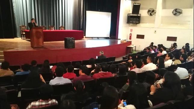 MINJUSDH absolvió dudas de universitarios de la región Piura sobre proyectos de Reforma Constitucional que irán a Referéndum